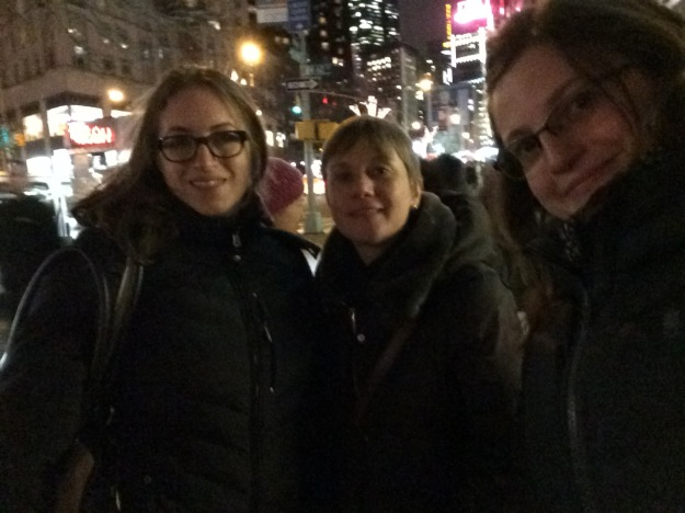 Ali, Michele, and Libby checking out Grace McLean's set at Lincoln Center last night.